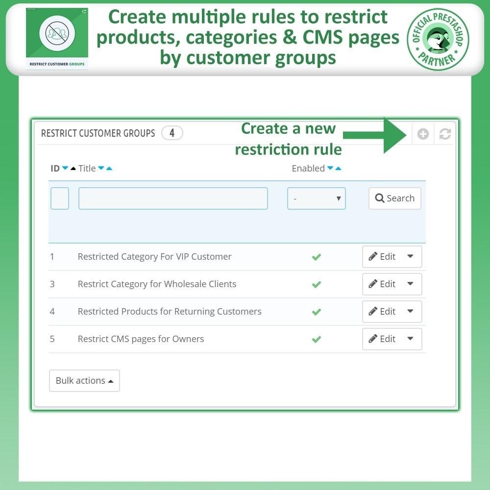 module - Informação Adicional & Aba de Produto - Restrict Products, Category & CMS By Customer Groups - 5