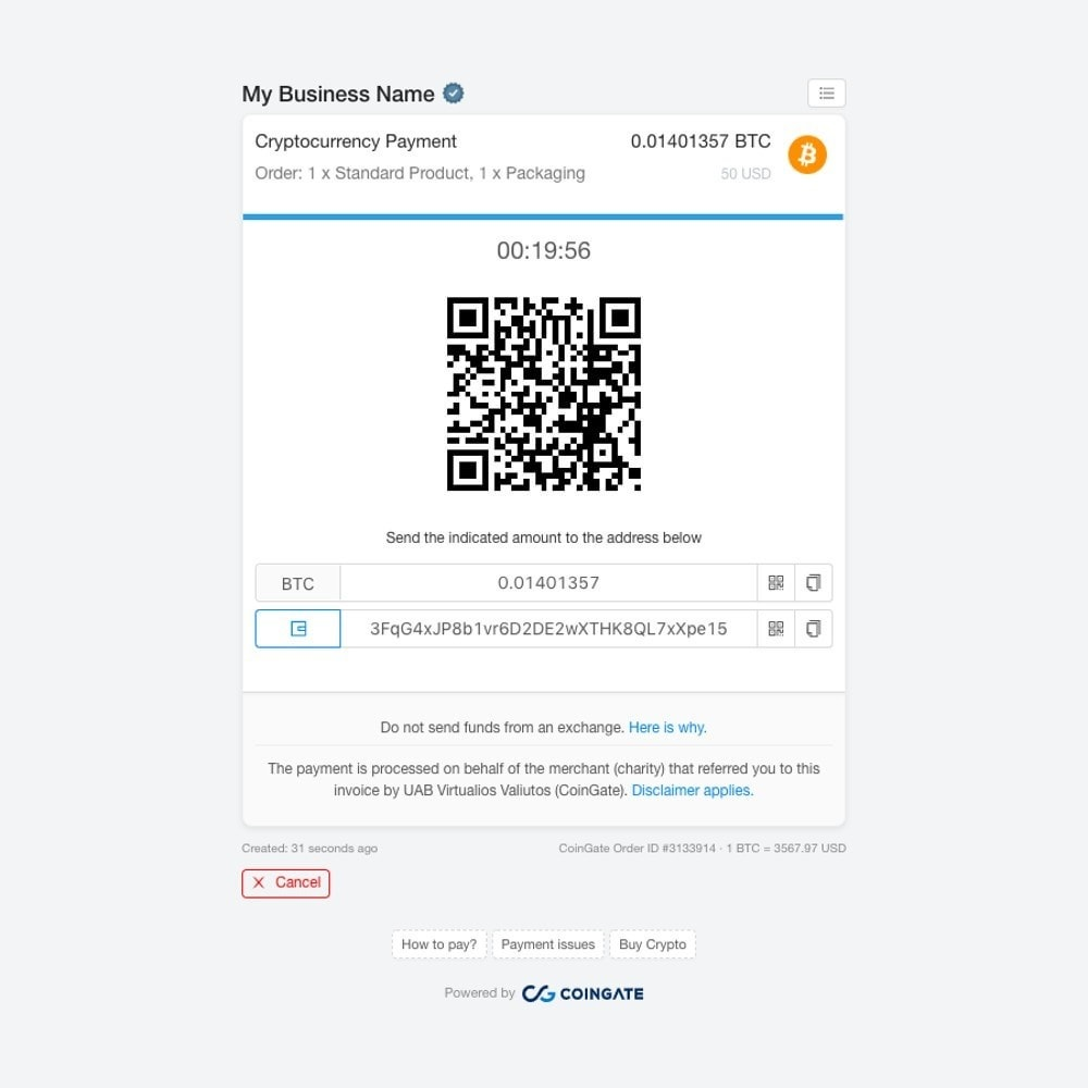 module - Andere Zahlungsmethoden - Accept Bitcoin and 50+ Cryptocurrencies with CoinGate - 2