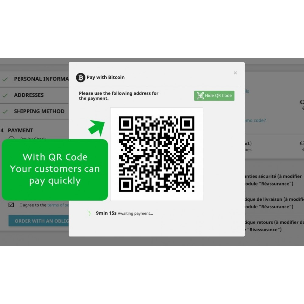 module - Formas de Pagamento Alternativas - Bitcoin x Crypto - Accept bitcoins and cryptos - 3