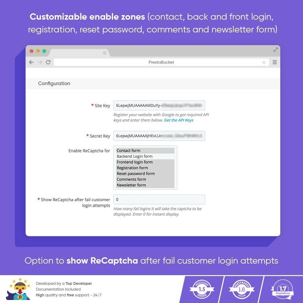 module - Security & Access - CAPTCHA Google reCAPTCHA PRO + anti Fake Accounts - 3