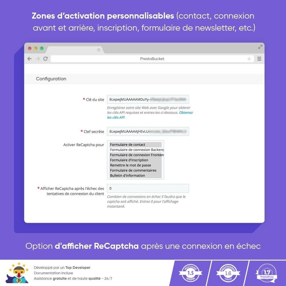 module - Sécurité & Accès - CAPTCHA Google reCAPTCHA PRO + anti Faux Comptes - 3