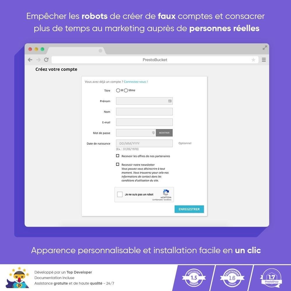 module - Sécurité & Accès - CAPTCHA Google reCAPTCHA PRO + anti Faux Comptes - 6