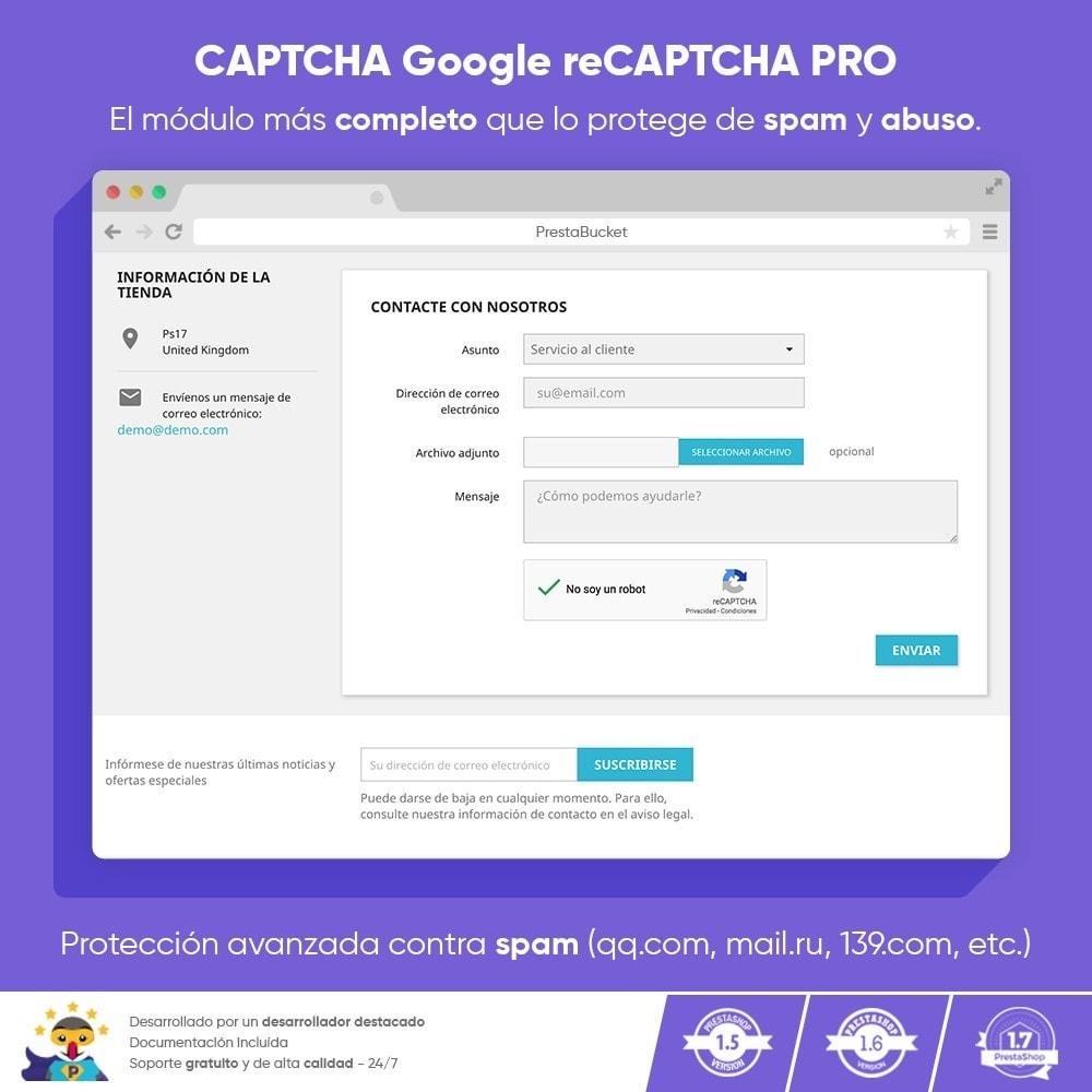 module - Seguridad y Accesos - CAPTCHA Google reCAPTCHA PRO + anti Cuentas Falsas - 1