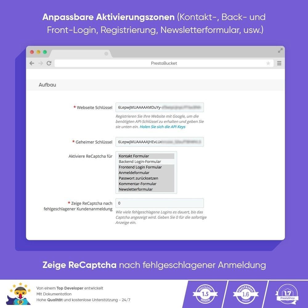 module - Sicherheit & Berechtigungen - CAPTCHA Google reCAPTCHA PROFI + Anti-Fälschungen - 3