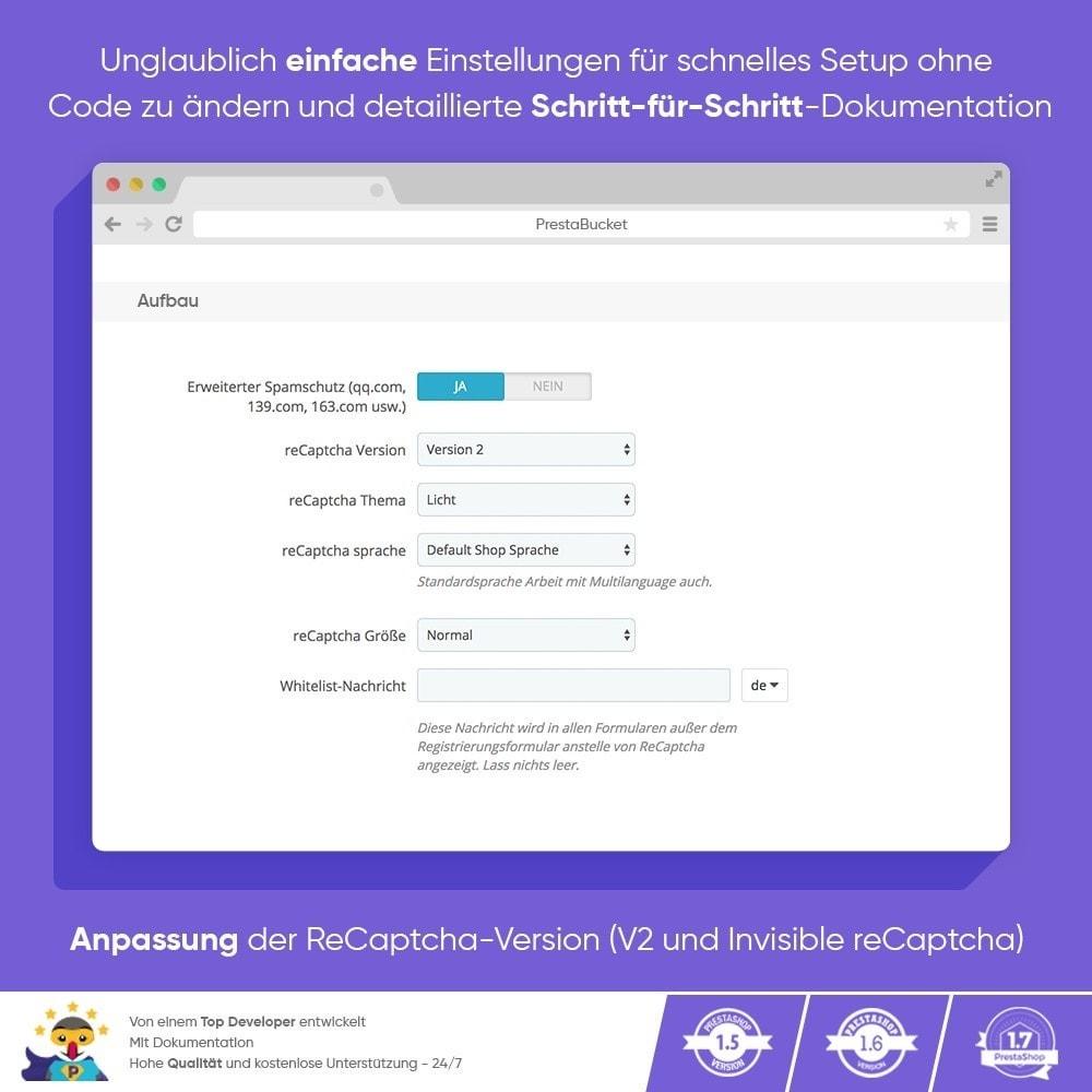 module - Sicherheit & Berechtigungen - CAPTCHA Google reCAPTCHA PROFI + Anti-Fälschungen - 4