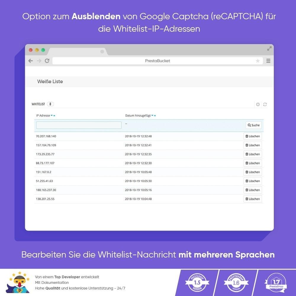 module - Sicherheit & Berechtigungen - CAPTCHA Google reCAPTCHA PROFI + Anti-Fälschungen - 5