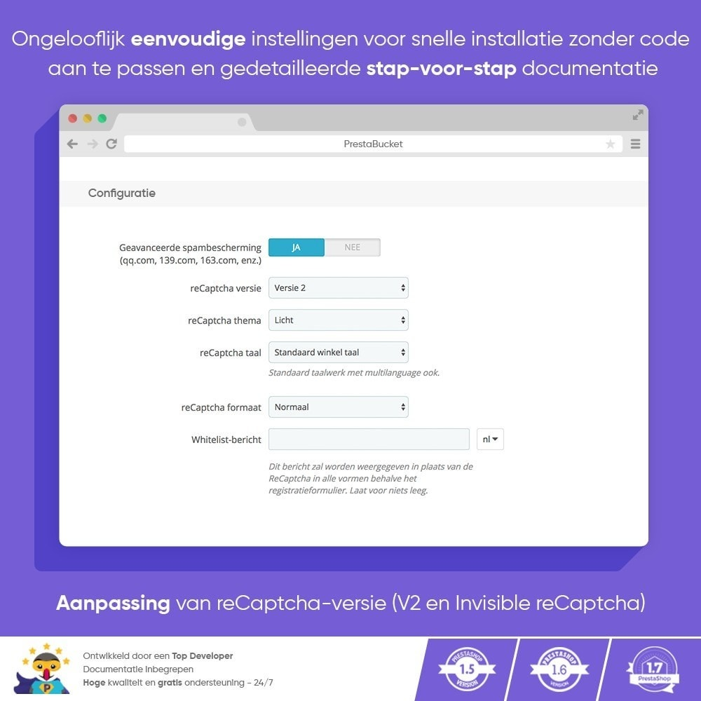 module - Veiligheid & Toegang - CAPTCHA Google reCAPTCHA PRO + anti Fake Accounts - 4