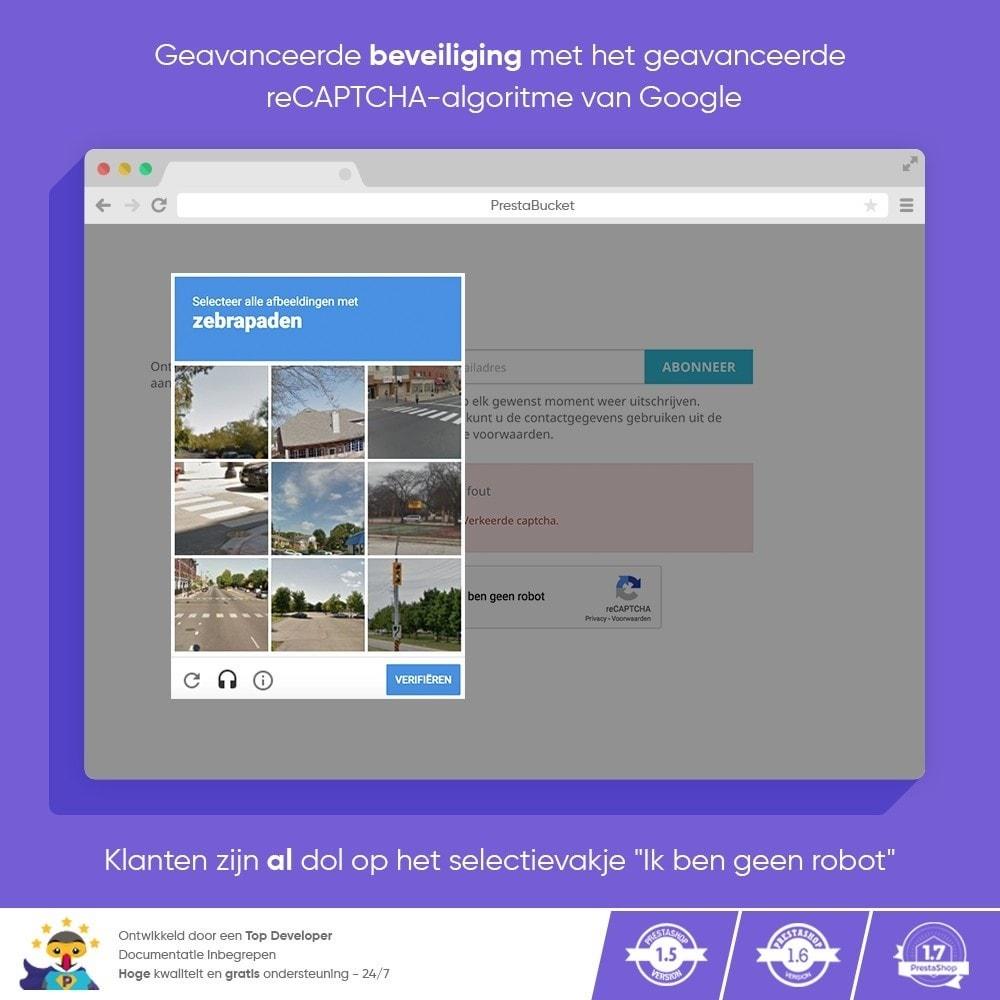 module - Veiligheid & Toegang - CAPTCHA Google reCAPTCHA PRO + anti Fake Accounts - 7