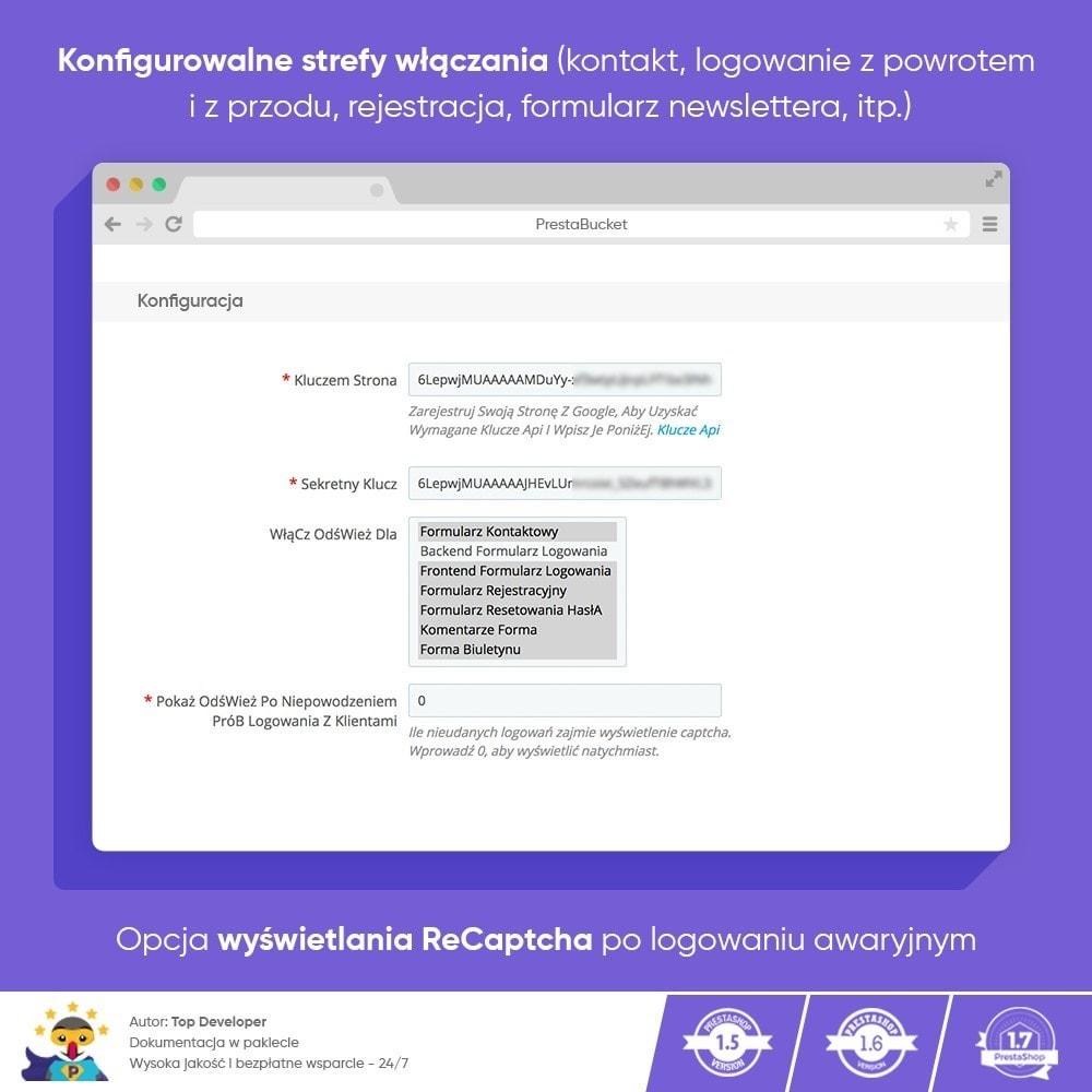 module - Bezpieczeństwa & Dostępu - CAPTCHA Google reCAPTCHA PRO + anty Fałszywe Konta - 3