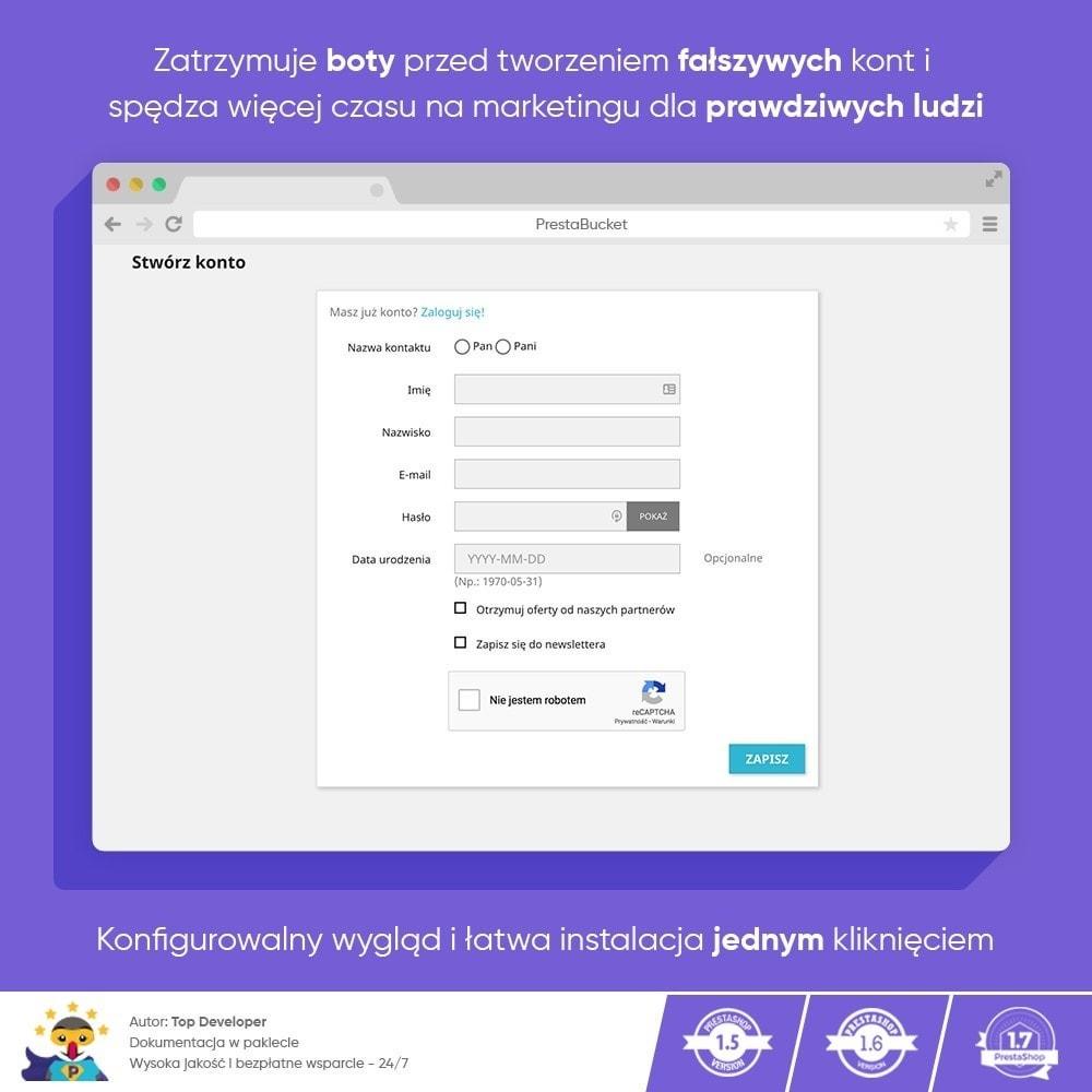 module - Bezpieczeństwa & Dostępu - CAPTCHA Google reCAPTCHA PRO + anty Fałszywe Konta - 6