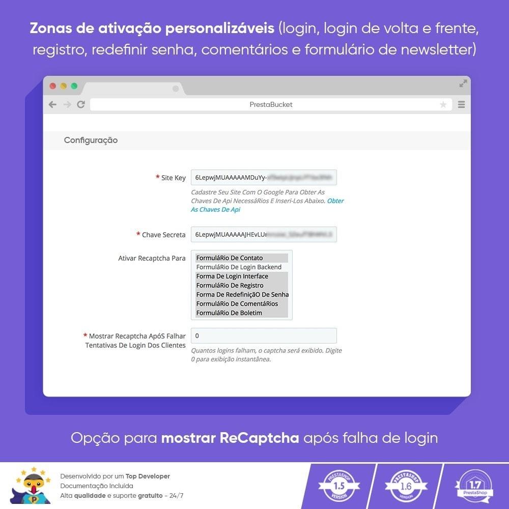 module - Segurança & Acesso - CAPTCHA Google reCAPTCHA PRÓ + anti Contas Falsas - 3