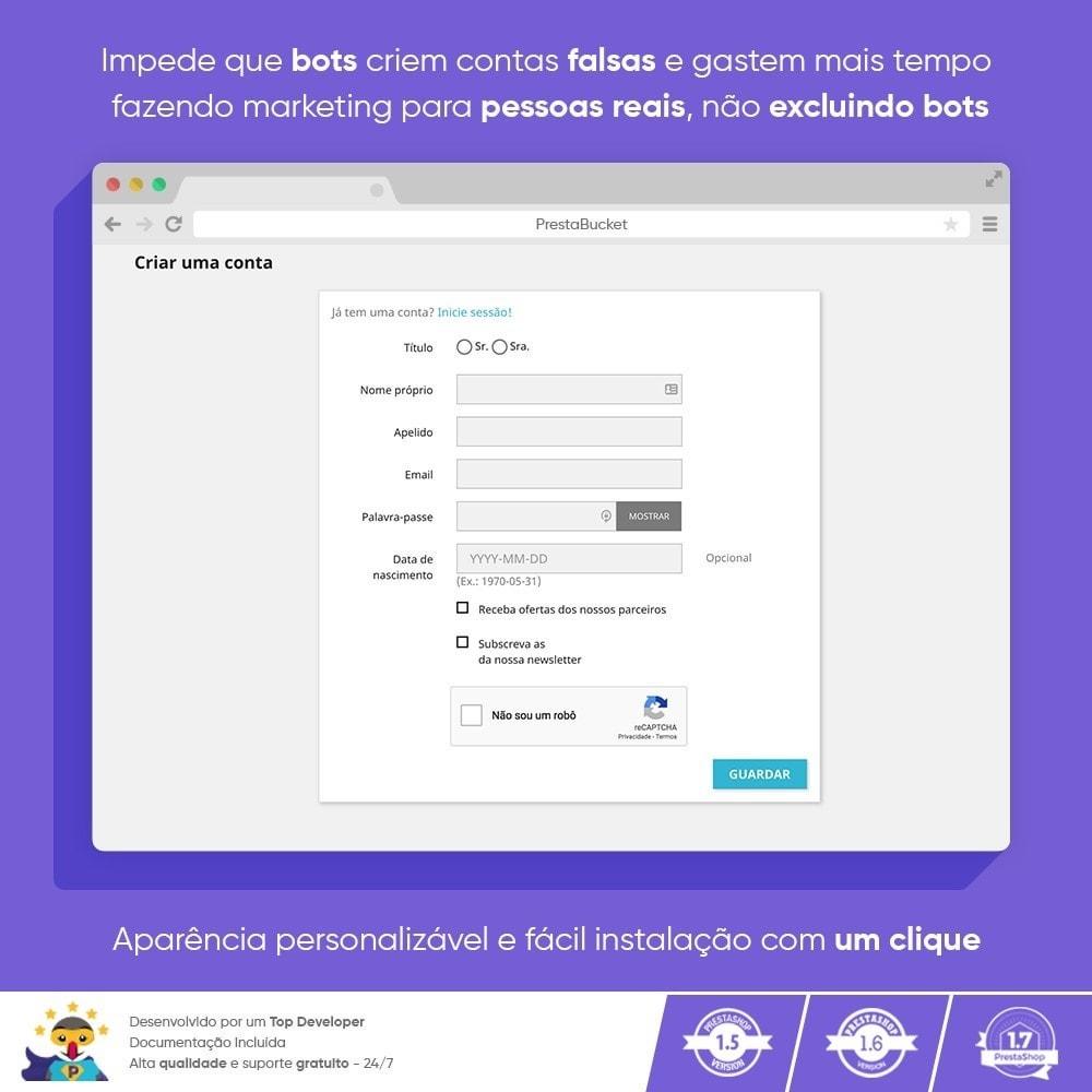 module - Segurança & Acesso - CAPTCHA Google reCAPTCHA PRÓ + anti Contas Falsas - 6