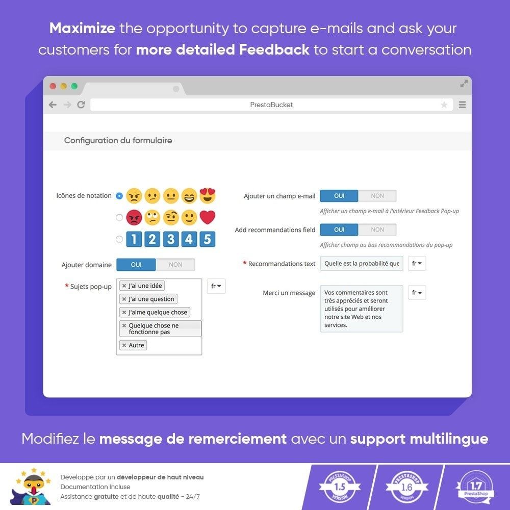 module - Avis clients - Customer FEEDBACK - Recueillir des Informations Vitales - 5