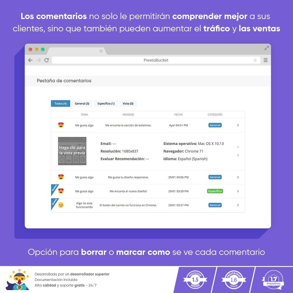 module - Comentarios de clientes - COMENTARIOS del Cliente Recopilar Información Vital - 6