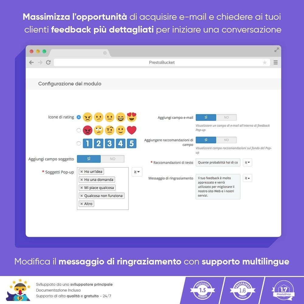 module - Recensioni clienti - FEEDBACK cliente - Raccogliere Informazioni Vitali - 5