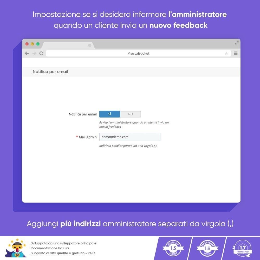 module - Recensioni clienti - FEEDBACK cliente - Raccogliere Informazioni Vitali - 8