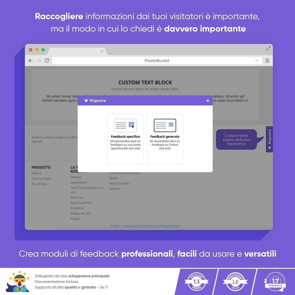 module - Recensioni clienti - FEEDBACK cliente - Raccogliere Informazioni Vitali - 9
