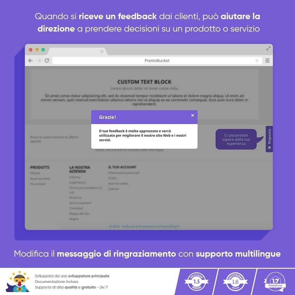 module - Recensioni clienti - FEEDBACK cliente - Raccogliere Informazioni Vitali - 10