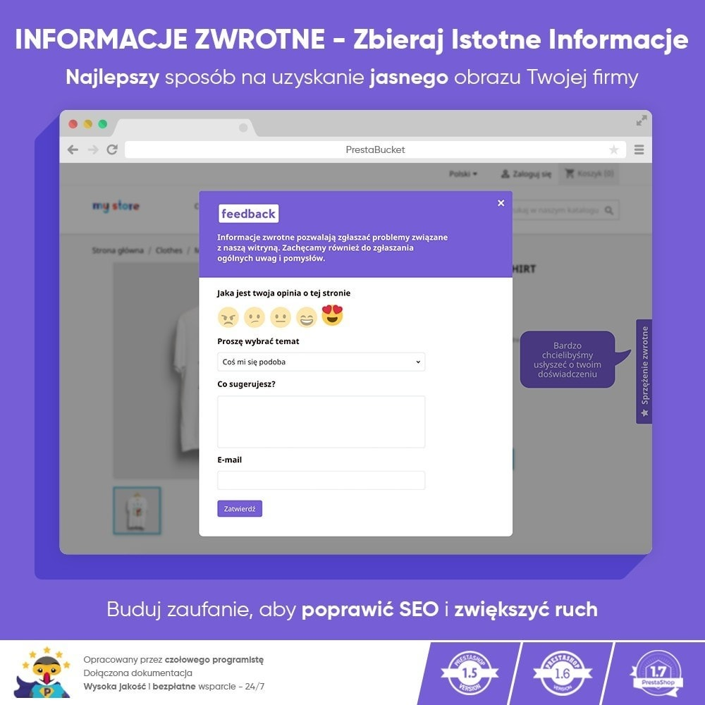 module - Opinie klientów - Klient INFORMACJE ZWROTNE Zbieraj Istotne Informacje - 1