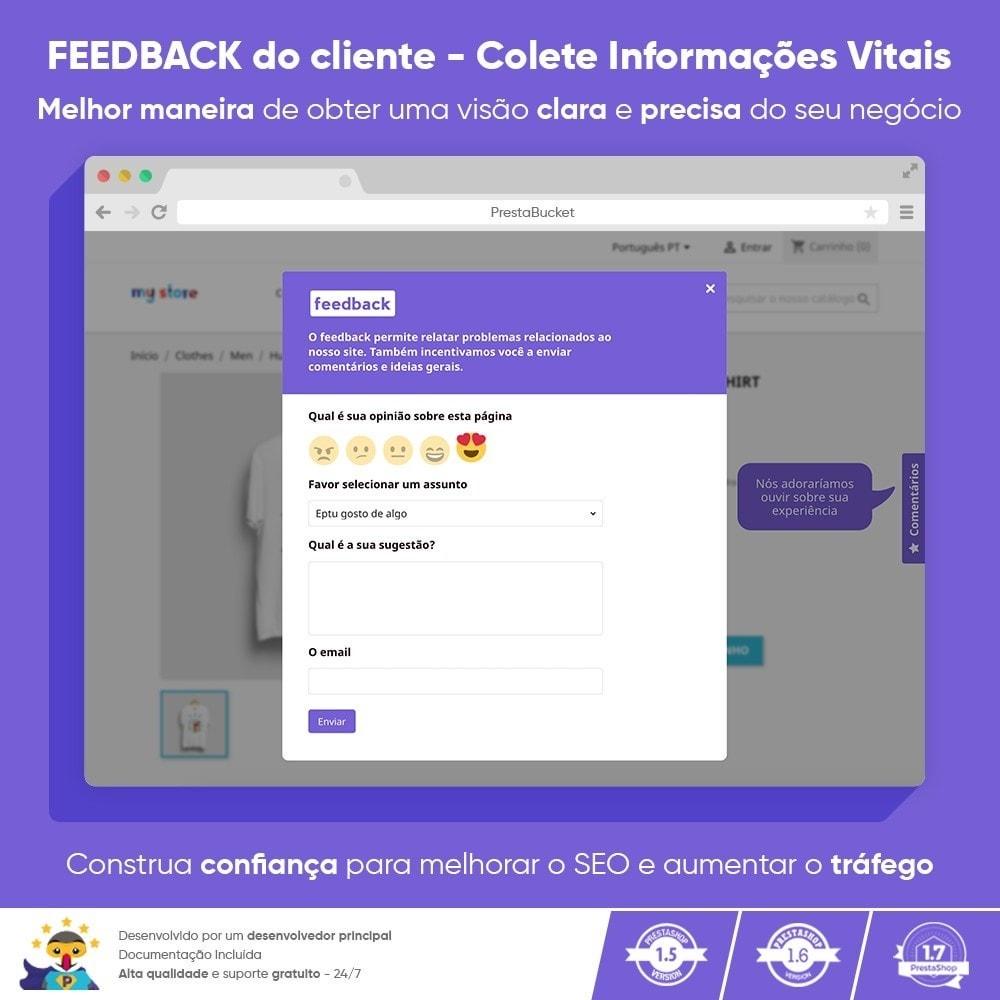 module - Opiniões de clientes - Cliente Avançado FEEDBACK Coletar Informações Vitais - 1