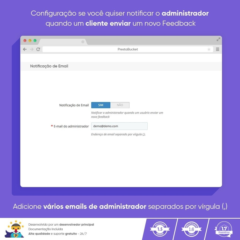 module - Opiniões de clientes - Cliente Avançado FEEDBACK Coletar Informações Vitais - 8