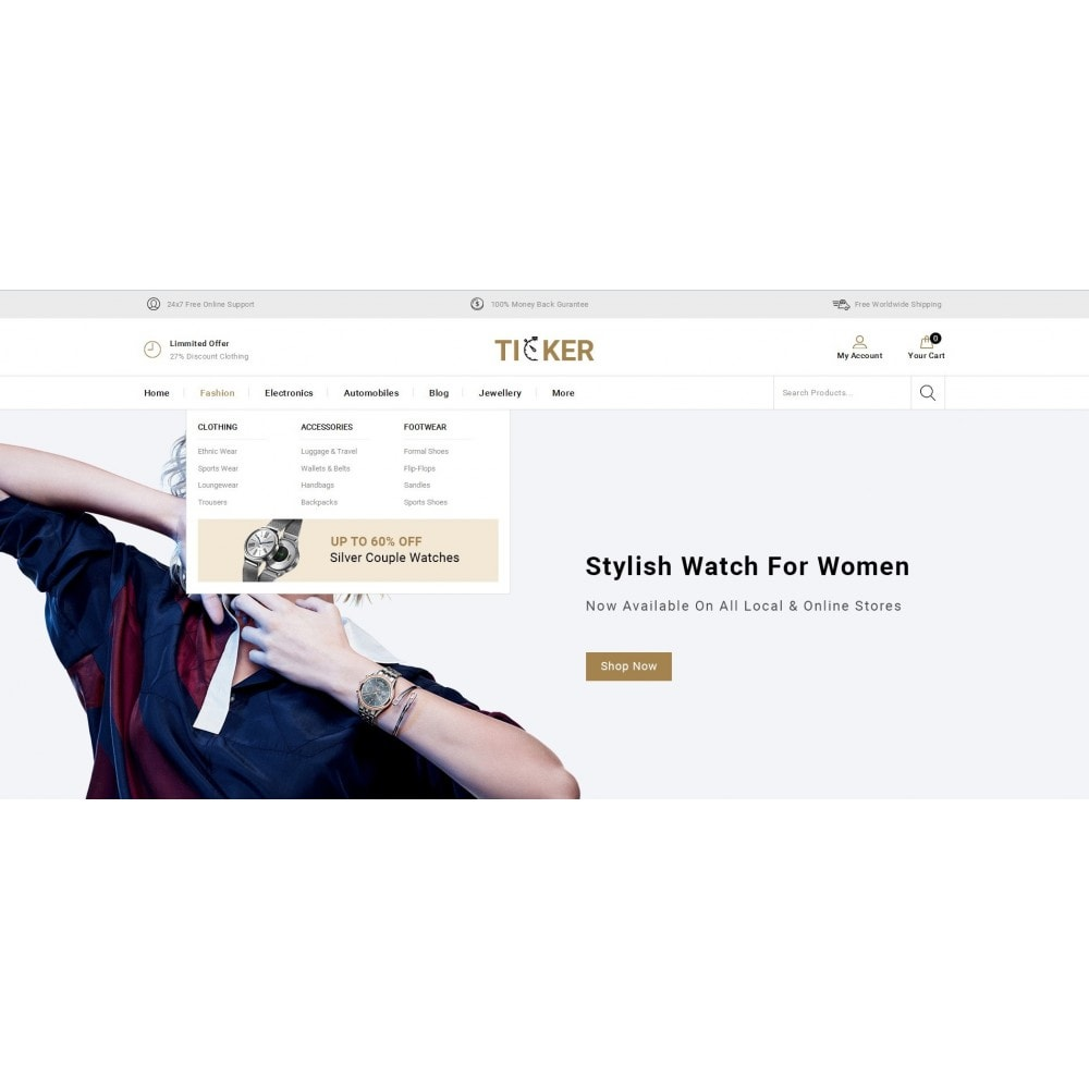 theme - Biżuteria & Akcesoria - Ticker - Watch Store - 6