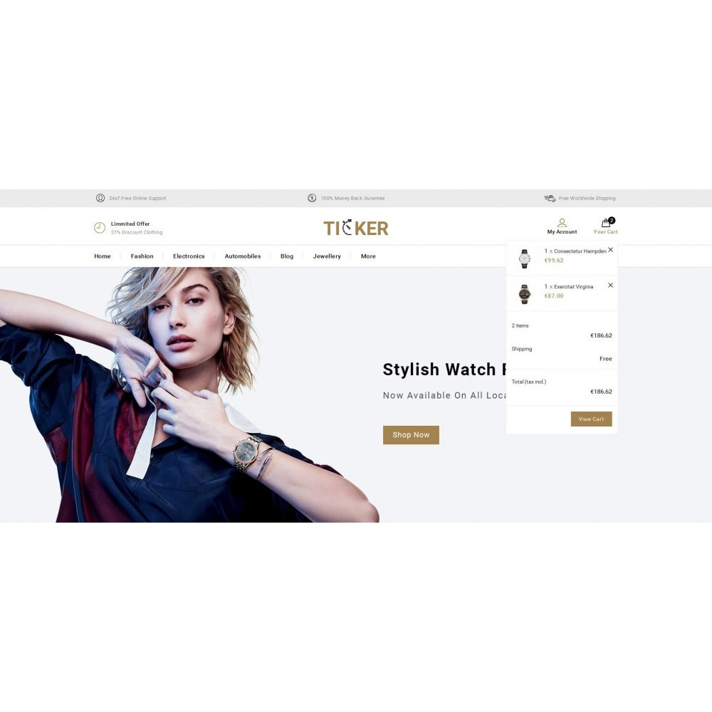 theme - Biżuteria & Akcesoria - Ticker - Watch Store - 8