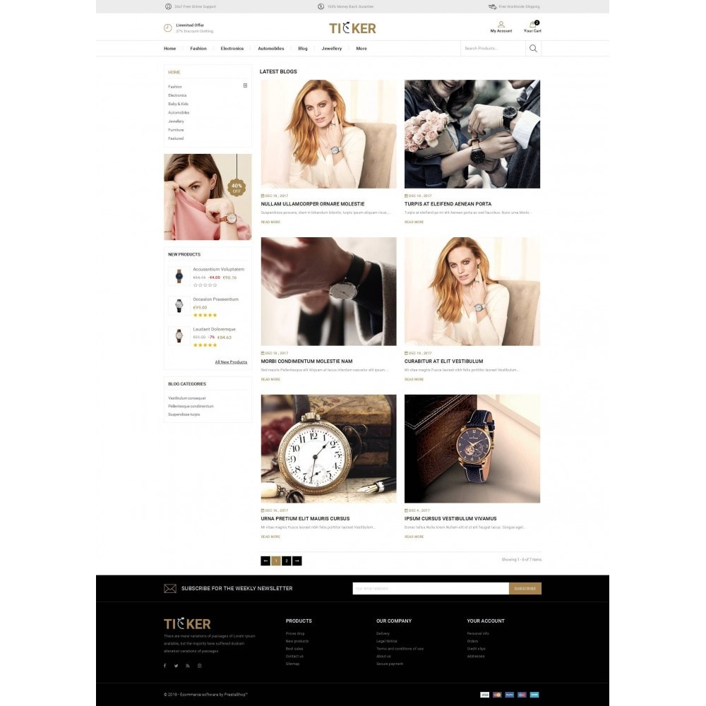 theme - Biżuteria & Akcesoria - Ticker - Watch Store - 9