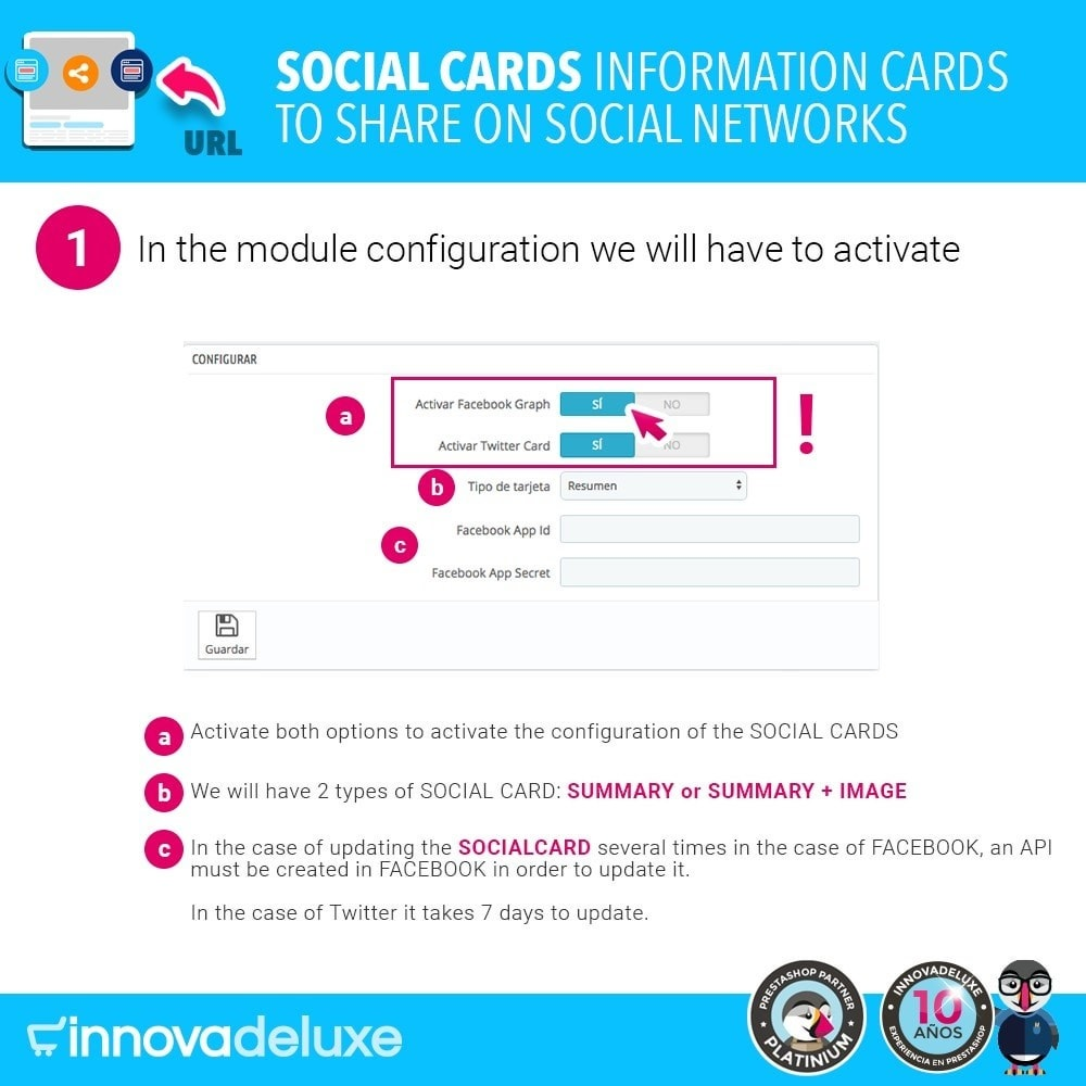 module - Share Buttons & Comments - SocialCards, cards to share on social networks - 2