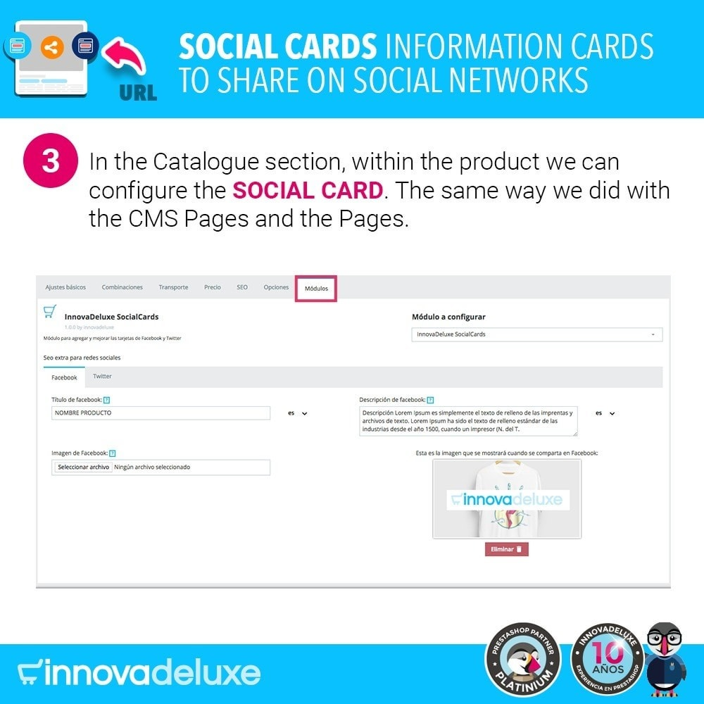 module - Share Buttons & Comments - SocialCards, cards to share on social networks - 4