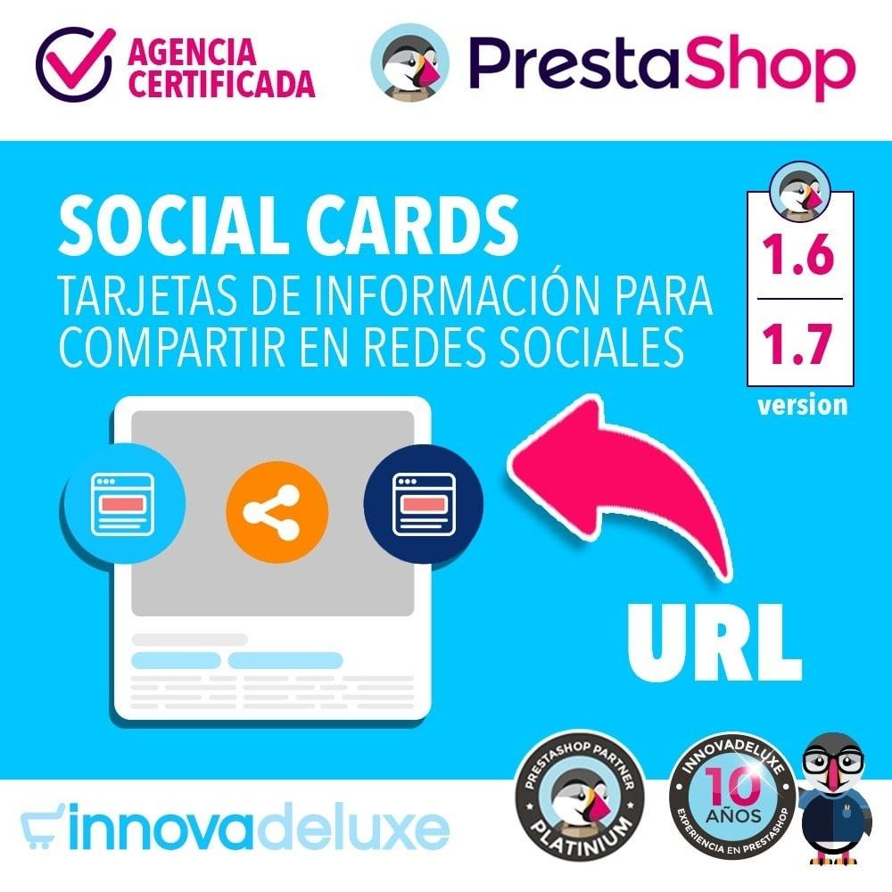 module - Compartir contenidos y Comentarios - SocialCards, tarjetas para compartir en redes sociales - 1