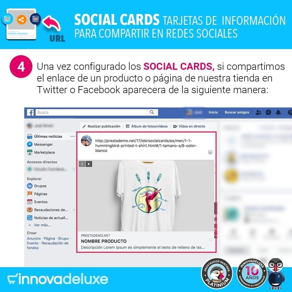 module - Compartir contenidos y Comentarios - SocialCards, tarjetas para compartir en redes sociales - 5