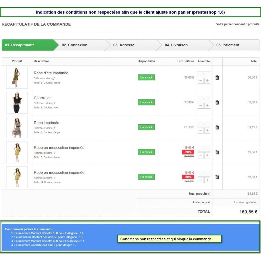 module - Inscription & Processus de commande - Limites multiple de commande selon plusieurs critères - 6