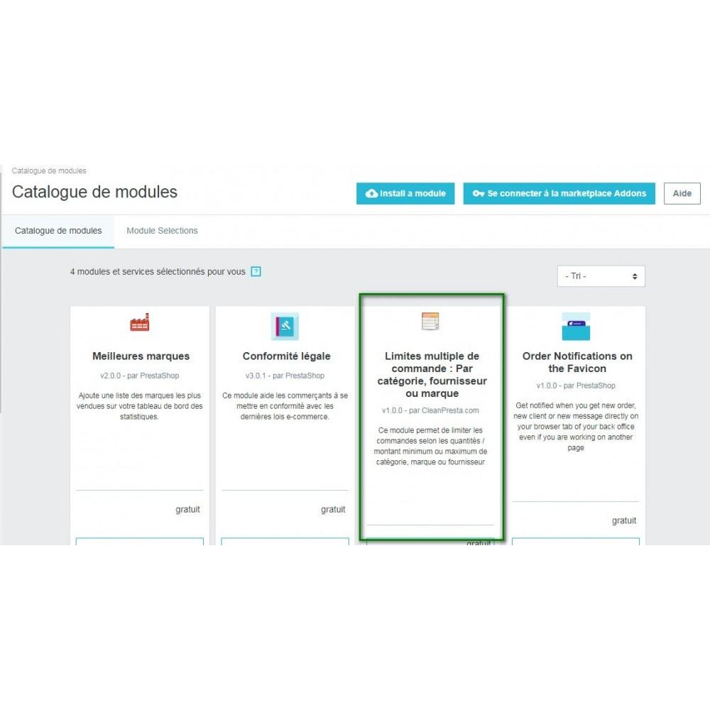 module - Inscription & Processus de commande - Limites multiple de commande selon plusieurs critères - 7
