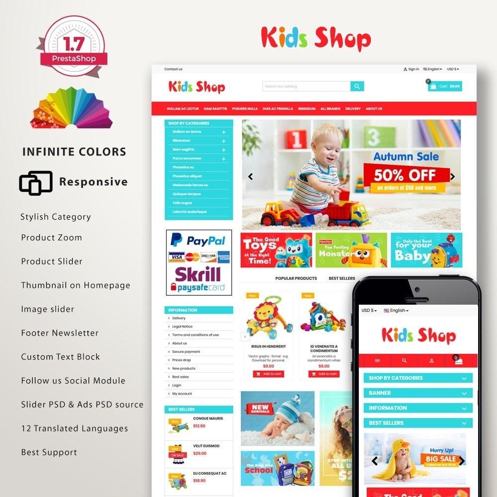 theme - Enfants & Jouets - New Kids shop, Toy, play, cloths Multicolor store - 1