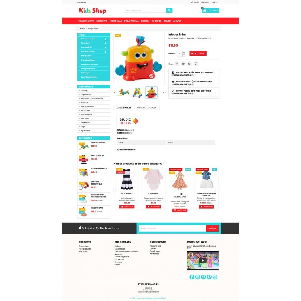 theme - Enfants & Jouets - New Kids shop, Toy, play, cloths Multicolor store - 4