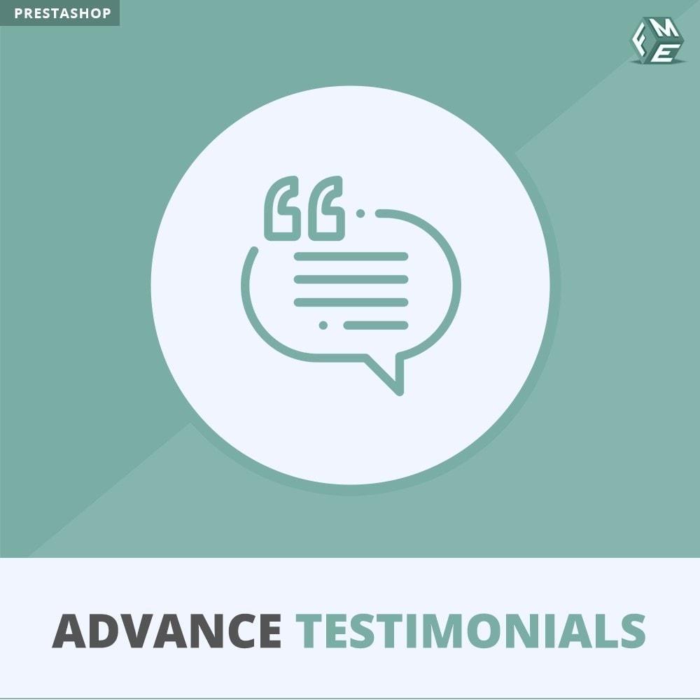 module - Opiniões de clientes - Advance Testimonials - Customer Reviews with Pictures - 1