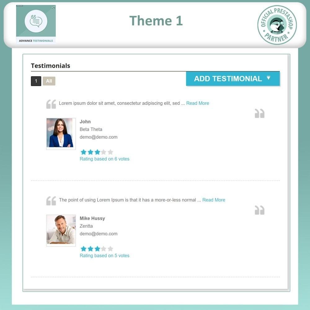 module - Opiniões de clientes - Advance Testimonials - Customer Reviews with Pictures - 3