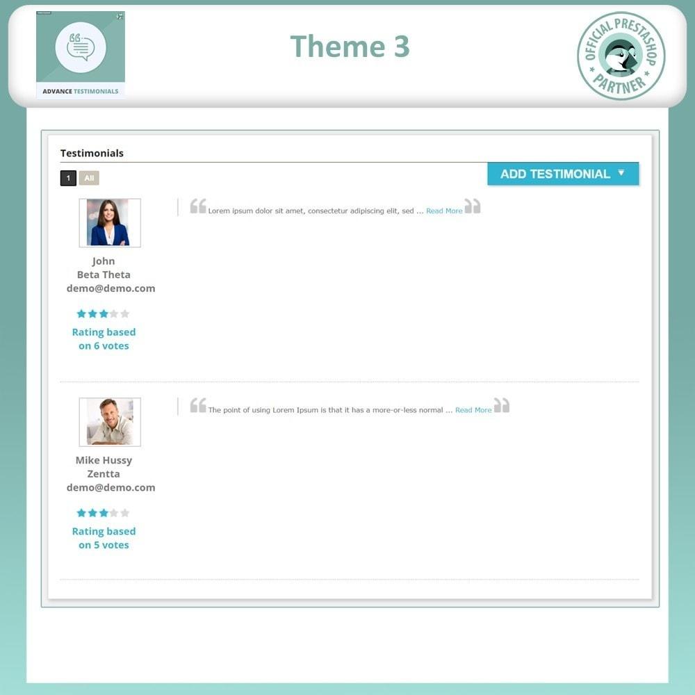 module - Opiniões de clientes - Advance Testimonials - Customer Reviews with Pictures - 5