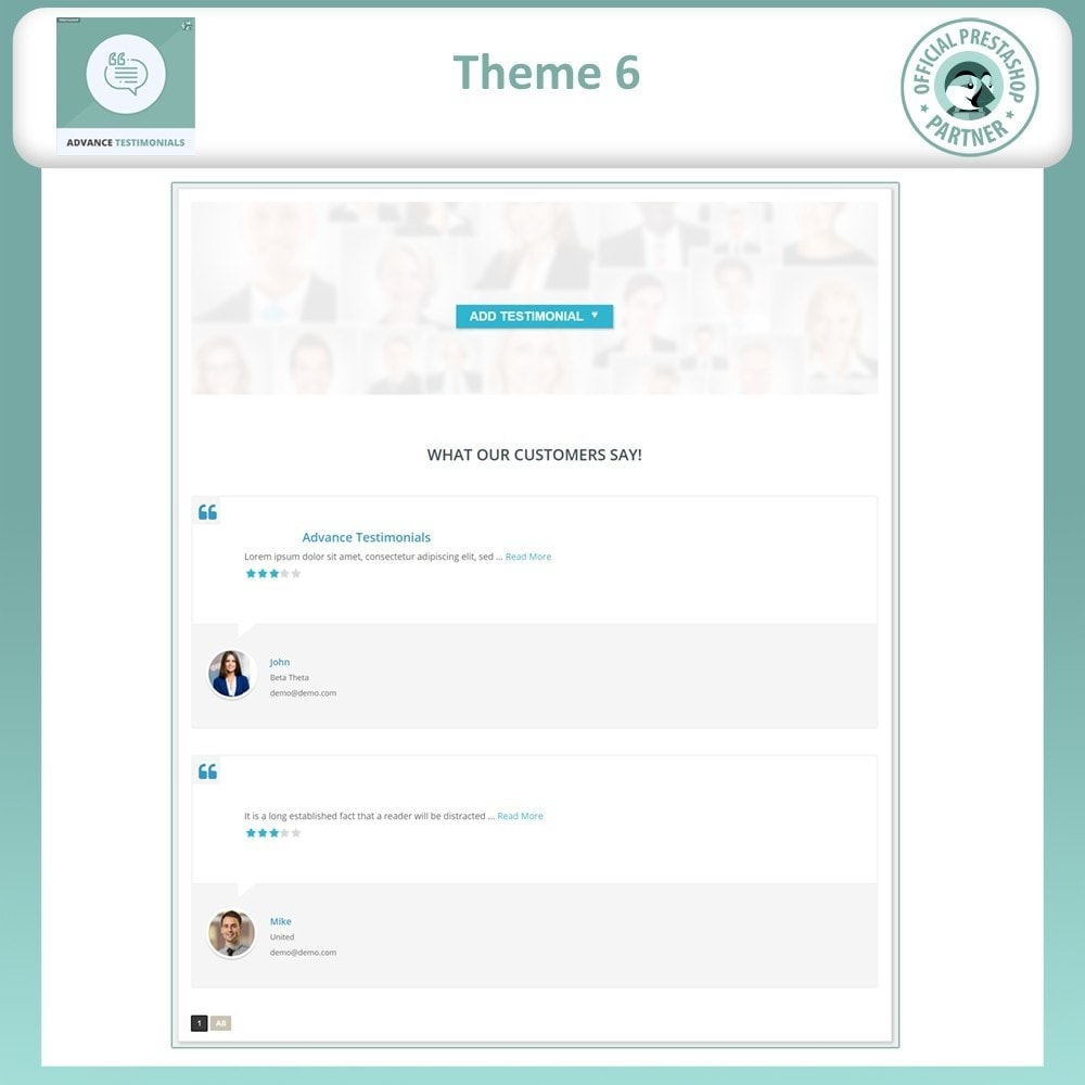 module - Opiniões de clientes - Advance Testimonials - Customer Reviews with Pictures - 8