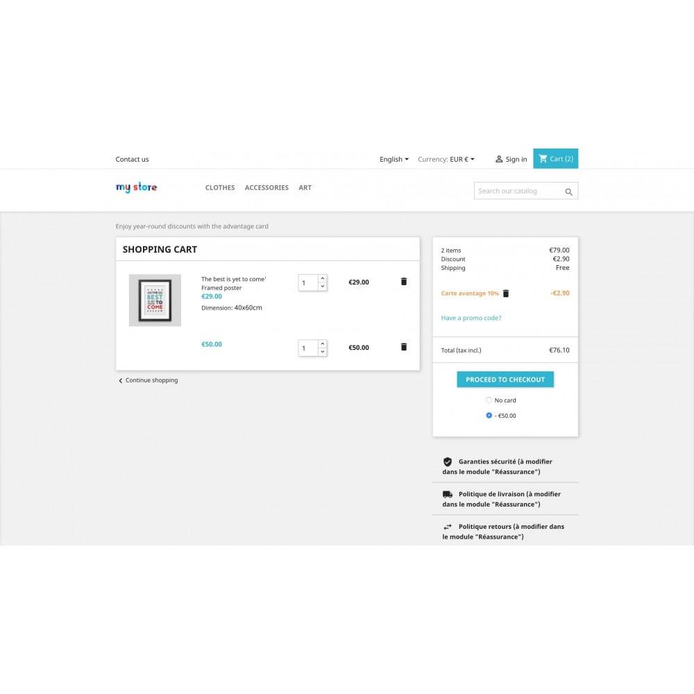 module - Promoties & Geschenken - Paid benefit cards / loyalty / discount - 3