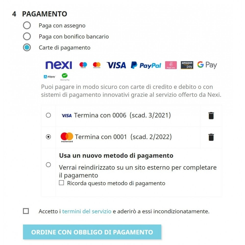 module - Pagamento con Carta di Credito o Wallet - Nexi XPay - 1