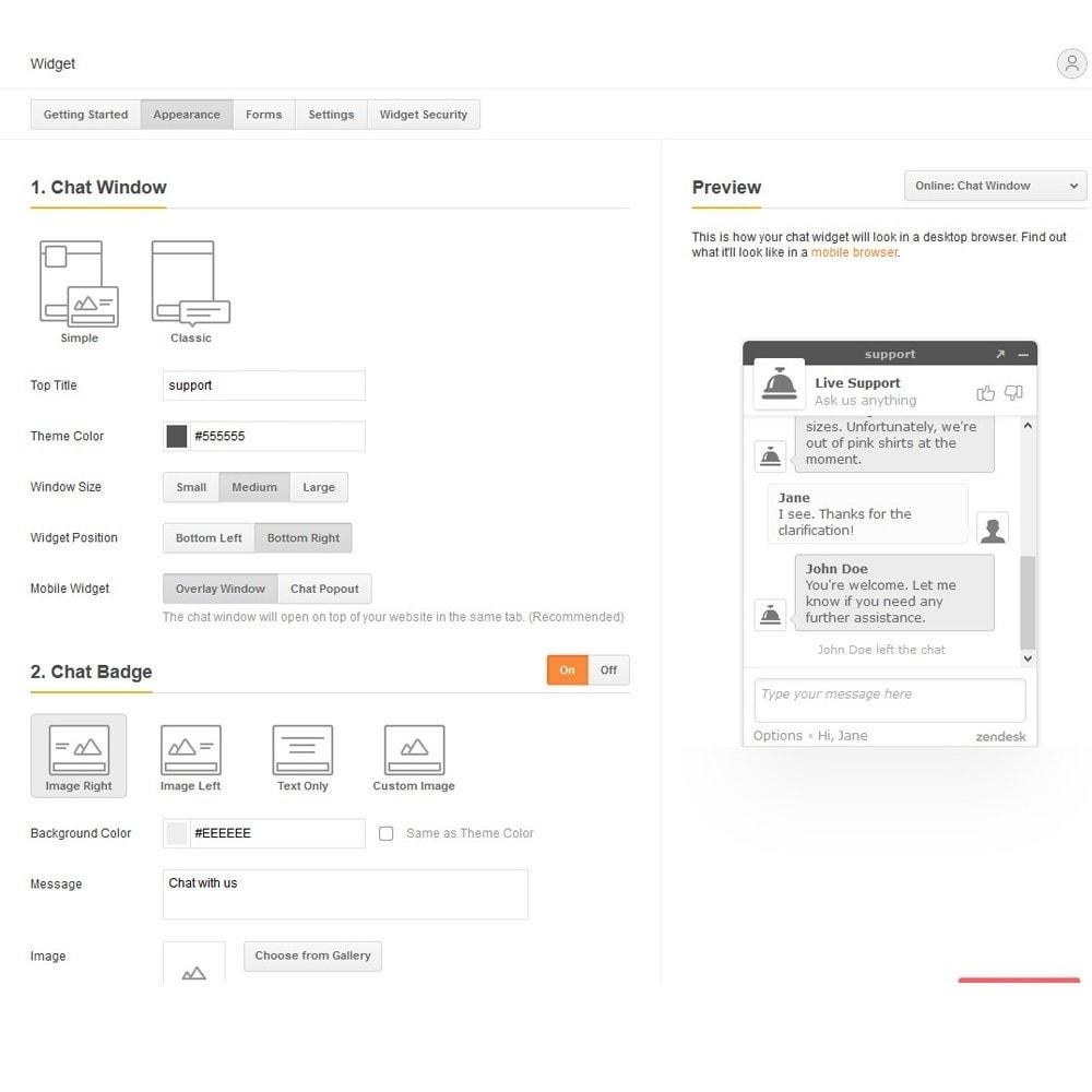 module - Поддержка и онлайн-чат - Live Chat by Zendesk - 4