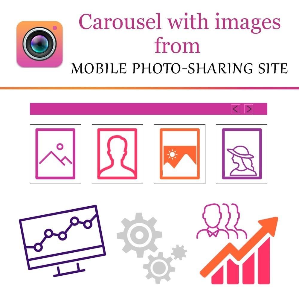 module - Слайдеров (карусельных) и галерей - Instagram Carousel with New API - 1