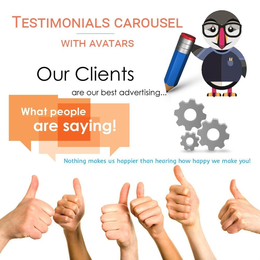 module - Отзывы клиентов - Testimonials carousel with avatars - 1