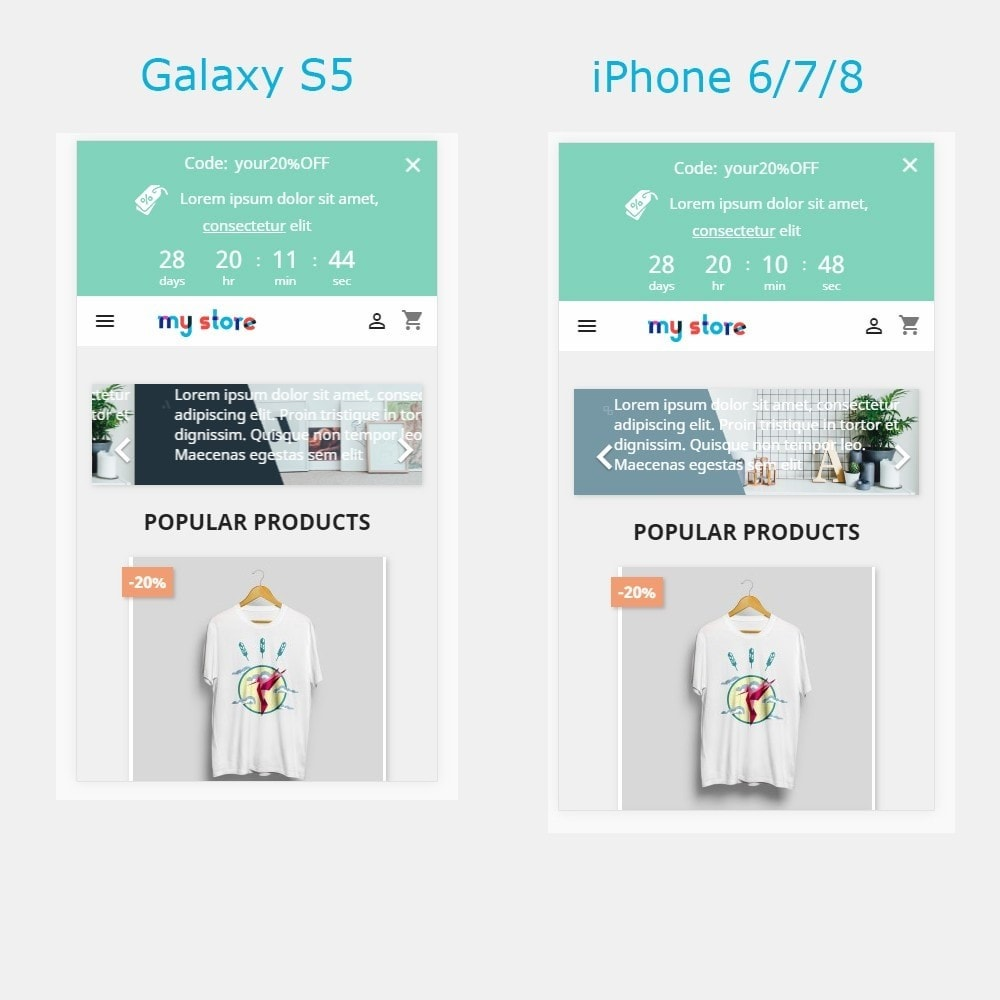 module - Акции и Подарки - Top banner. Promotions, Sales, Free shipping, Countdown - 3