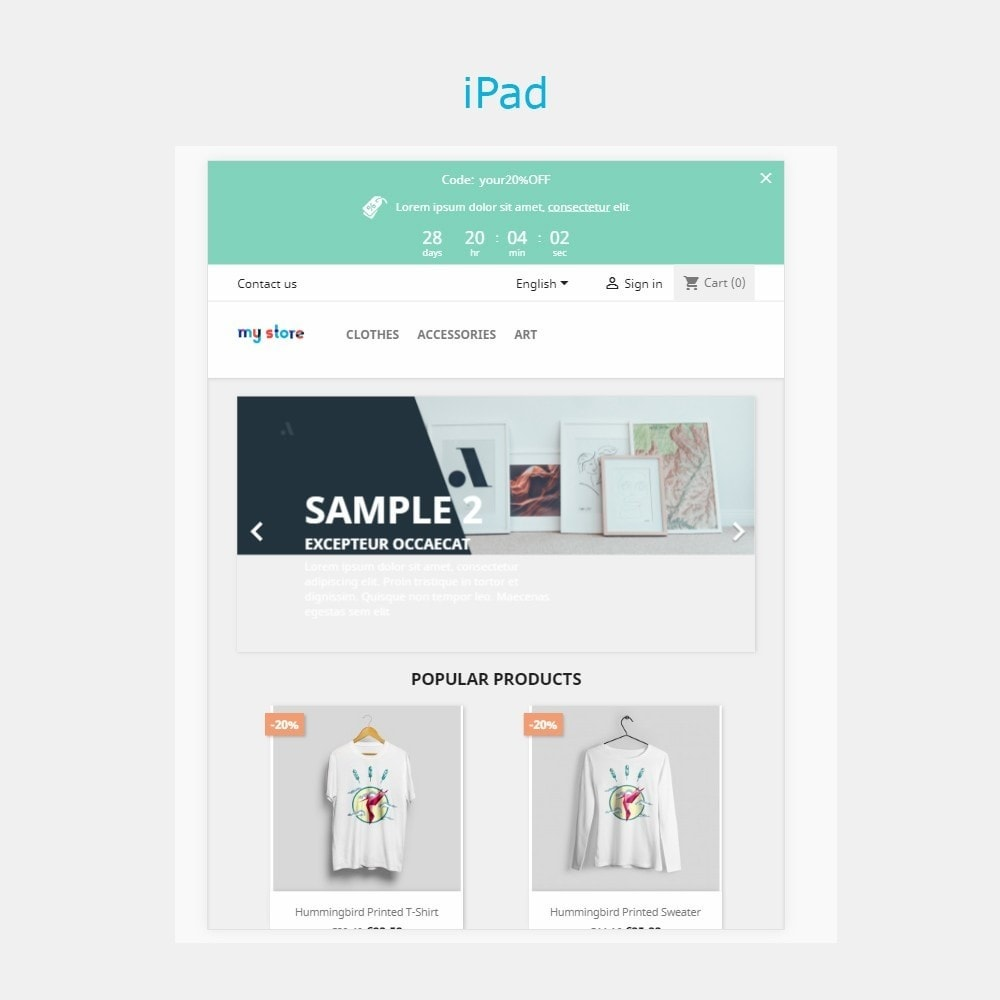 module - Акции и Подарки - Top banner. Promotions, Sales, Free shipping, Countdown - 4