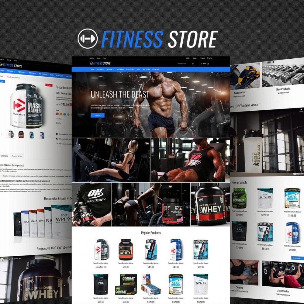 theme - Sports, Activities & Travel - Fitness Store - 1