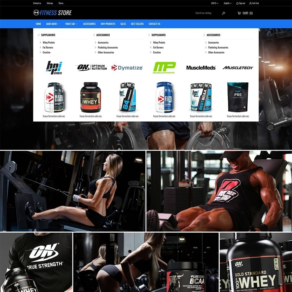 theme - Sports, Activities & Travel - Fitness Store - 3