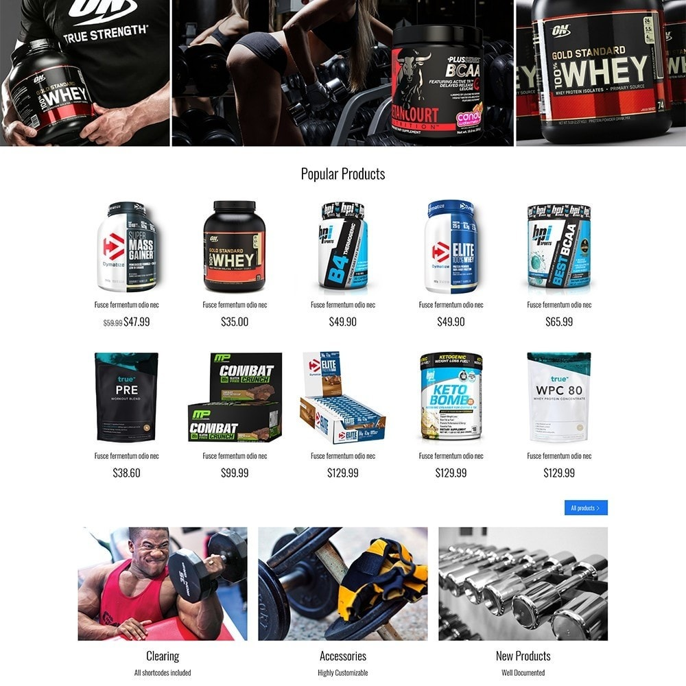 theme - Sports, Activities & Travel - Fitness Store - 4